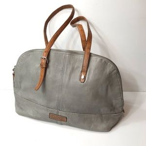 Anthropologie Liebeskind Gray Leather Tote Bag